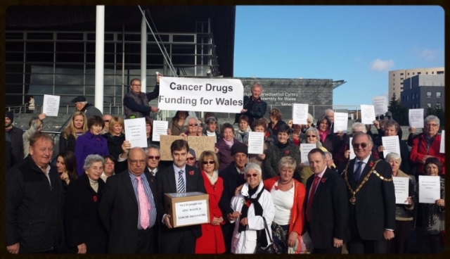 CAMPAIGNERS for a Cancer Drugs Fund for Wales today handed in the biggest petition ever to have been presented Assembly Members.